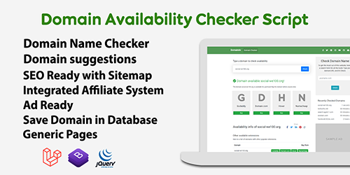 DomainAv - Domain Availability Checker PHP Script